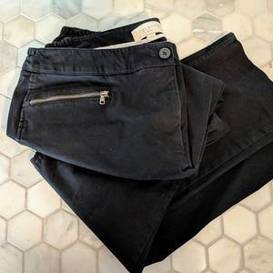 Black Talbots 14W ankle pants with zipper detail